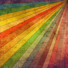 Retro Rainbow Rays Wall Mural