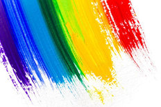 Acrylic Paint Rainbow Wall Mural