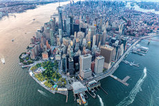 Aerial of Lower Manhattan Mural Wallpaper