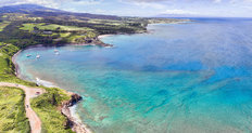 Aerial Panoramic of Honolua Bay on Maui, Hawaii, USA Mural Wallpaper