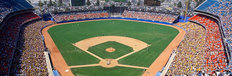 Aerial View Of Dodger Stadium Mural Wallpaper