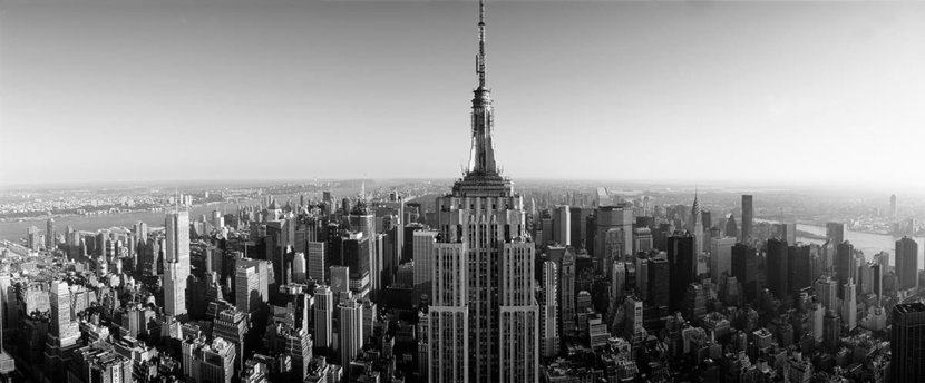 Aerial View Of Empire State Building Wall Mural