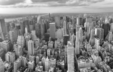 Aerial View of Manhattan Midtown Wallpaper Mural
