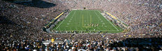 Aerial View Of Notre Dame Football Stadium Mural Wallpaper