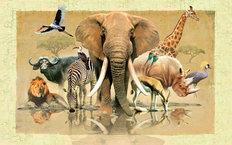 African Reflections Mural Wallpaper