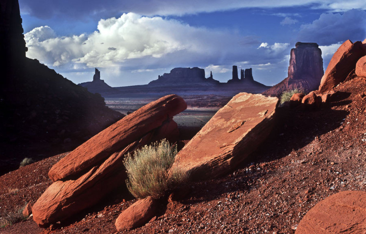 Afternoon In Monument Valley Mural Wallpaper