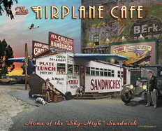 Airplane Cafe  Mural Wallpaper