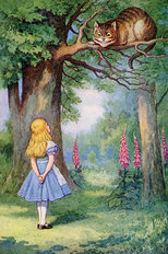 Alice and the Cheshire Cat Mural Wallpaper