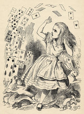 Alice and the Pack of Cards Wall Mural