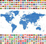 All Country Flags Wall Mural