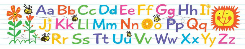 Alphabet Spelling Bees - Panoramic Wall Mural