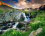 American Basin With Clouds Wall Mural