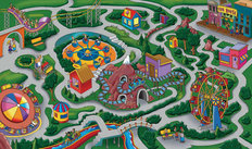 Amusement Park 2 Mural Wallpaper