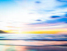 An Abstract Seascape with Blurred Motion Mural Wallpaper