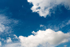 Deep Blue Sky With Clouds Wall Mural