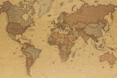 Ancient Geographic Map Of The World  Mural Wallpaper