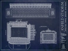 Anfield Stadium Blueprint Wall Mural