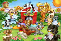 Animal Care Mural Wallpaper