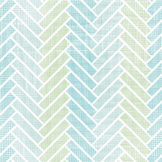 Aqua Herringbone Pattern Wallpaper