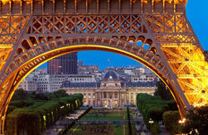 Arch of Eiffel Tower Wall Mural