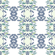 Arklow Green Floral Pattern Mural Wallpaper