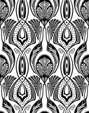 Art Deco Damask Pattern Wallpaper
