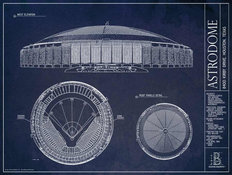 Astrodome Blueprint Wall Mural