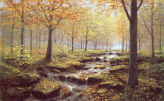 Autumn Gold Rush Mural Wallpaper