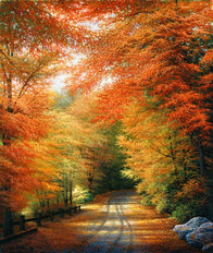 Autumn In New England Wall Mural