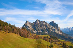 Autumn In The Alps Mural Wallpaper