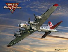 B-17 Special Delivery Mural Wallpaper