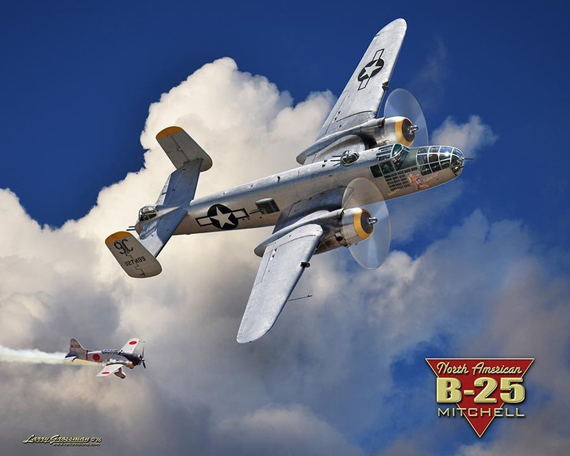 B-25 Mitchell Bomber Mural Wallpaper