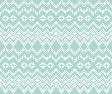 Baby Blue Ethnic Pattern Wallpaper