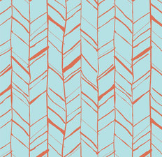 Baby Blue Herringbone Pattern Wallpaper