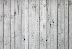 White Painted Wooden Boards Mural Wallpaper