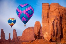 Balloon Festival In Monument Valley Wall Mural