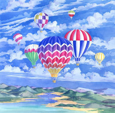 Balloons II Wallpaper Mural