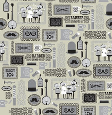 Barber Shop - Warm Gray Wallpaper