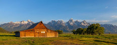 Barn in the Tetons Mural Wallpaper