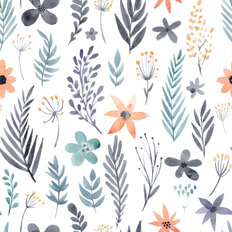Bashful Blossoms Pattern Wallpaper