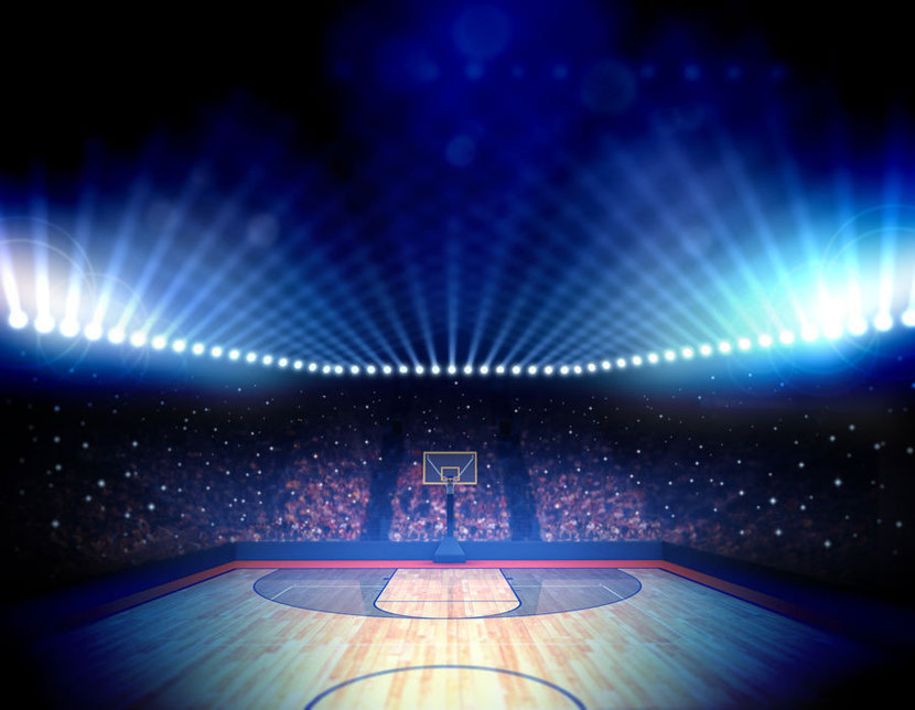 Background of a basketball court and stadium sports wallpaper mural