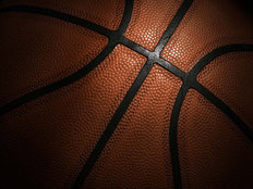 Basketball Close-Up Mural Wallpaper