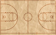 Basketball Court Wallpaper Mural