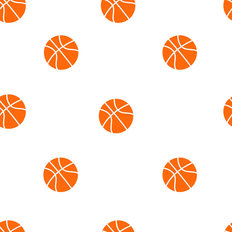 Basketball Pattern Wallpaper