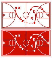 Basketball Strategy Plan Mural Wallpaper