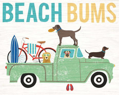Beach Bums Truck Mural Wallpaper