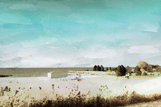Beach Glass Cabana, Lake Erie Mural Wallpaper