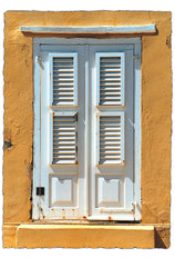 Beach House Shutters Mural Wallpaper