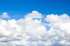 Beautiful Fluffy White Clouds Mural Wallpaper