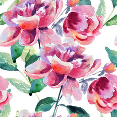 Beautiful Peony Watercolor Wallpaper